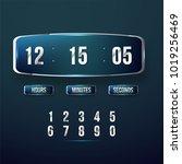 countdown web site vector flat...   Shutterstock .eps vector #1019256469