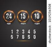 countdown web site vector flat... | Shutterstock .eps vector #1019256508