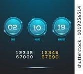 countdown web site vector flat...   Shutterstock .eps vector #1019256514