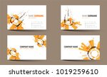 creative double sided business... | Shutterstock .eps vector #1019259610