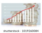 economic growth image | Shutterstock . vector #1019260084