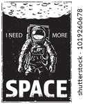 astronaut at spacewalk. cosmic... | Shutterstock .eps vector #1019260678