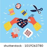 cartoon vector illustration of... | Shutterstock .eps vector #1019263780