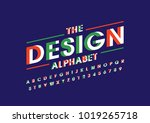 vector of stylized bold font... | Shutterstock .eps vector #1019265718