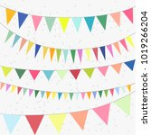 cute party decoration ... | Shutterstock .eps vector #1019266204