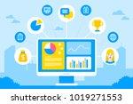 crm customer relationship...   Shutterstock .eps vector #1019271553