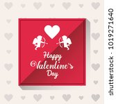 happy valentines day card | Shutterstock .eps vector #1019271640