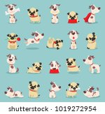 vector illustration set of cute ...   Shutterstock .eps vector #1019272954