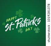 hand drawn green lettering of...   Shutterstock .eps vector #1019281378