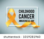 poster for childhood cancer... | Shutterstock . vector #1019281960