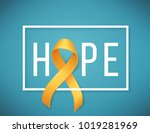 poster for childhood cancer... | Shutterstock . vector #1019281969