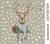 vector valentine day concept.... | Shutterstock .eps vector #1019287564
