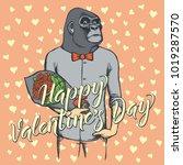 vector valentine day concept.... | Shutterstock .eps vector #1019287570
