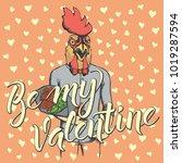 vector valentine day concept.... | Shutterstock .eps vector #1019287594