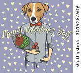 vector valentine day concept.... | Shutterstock .eps vector #1019287609