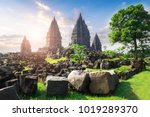 beautiful buildings of ancient... | Shutterstock . vector #1019289370