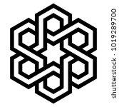celtic hexagon knot  logo...   Shutterstock .eps vector #1019289700