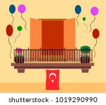 window with turkish flag for... | Shutterstock .eps vector #1019290990