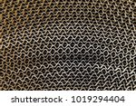 corrugated board roll. top view ... | Shutterstock . vector #1019294404
