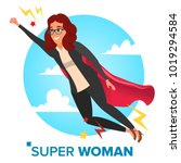 super business woman character... | Shutterstock .eps vector #1019294584