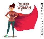 superhero businesswoman and... | Shutterstock .eps vector #1019294590