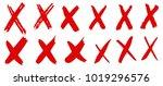 cross vector sign. dry brush... | Shutterstock .eps vector #1019296576