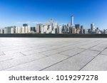 empty floor with panoramic... | Shutterstock . vector #1019297278