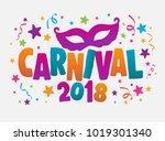carnival event in brazil.... | Shutterstock .eps vector #1019301340