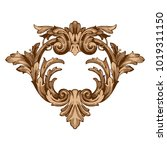 classical baroque vector of... | Shutterstock .eps vector #1019311150