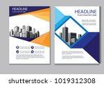 vector design cover book.... | Shutterstock .eps vector #1019312308