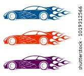 dynamic silhouette of the car ... | Shutterstock .eps vector #1019312566