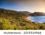 sunny gnejna bay  malta.... | Shutterstock . vector #1019314966