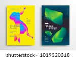 creative design poster with... | Shutterstock .eps vector #1019320318