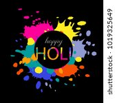 abstract colorful happy holi...   Shutterstock .eps vector #1019325649