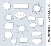 speech bubbles set isolated on... | Shutterstock .eps vector #1019327770