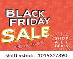 black friday sale. banner... | Shutterstock .eps vector #1019327890
