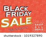 black friday sale. banner... | Shutterstock .eps vector #1019327890