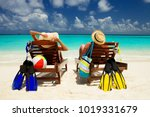 happy family vacation at... | Shutterstock . vector #1019331679