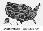 united states of america map.... | Shutterstock . vector #1019331724