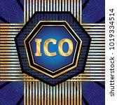 ico and token conceptual design ...   Shutterstock . vector #1019334514