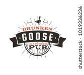 vintage craft beer pub label....   Shutterstock .eps vector #1019336236