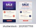 newsletter design template for... | Shutterstock . vector #1019337703