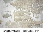 gray dirty plaster wall  with... | Shutterstock . vector #1019338144