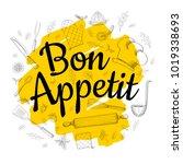 food poster print lettering.... | Shutterstock .eps vector #1019338693