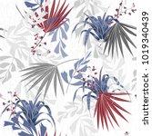vector seamless beautiful... | Shutterstock .eps vector #1019340439