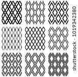 set of seamless diamonds... | Shutterstock .eps vector #1019342380
