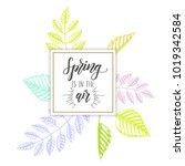 hand drawn lettering phrase ... | Shutterstock .eps vector #1019342584