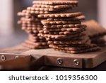 rye graham crackers on dark... | Shutterstock . vector #1019356300