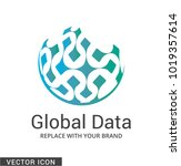 abstract globe logo icon   Shutterstock .eps vector #1019357614