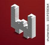 realistic white 3d isometric... | Shutterstock .eps vector #1019358364